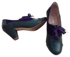 Chelsea Crew Green and purple Pumps