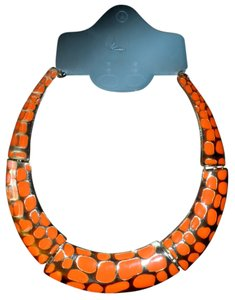 New Orange Collar Statement Necklace