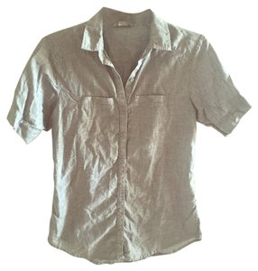 Rubbish Chambray Button Up Collar Top gray