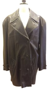 Giulio Giorgio Leather Italian Trench Coat