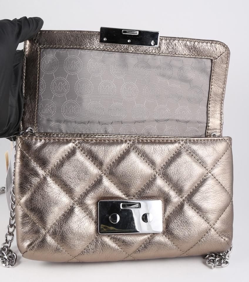 941a24be8d59 ... Michael Kors Sloan Small Quilted Nickel Leather Messenger Bag - Tradesy  ...