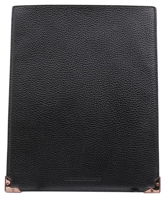 Item - Black * Prisma Ipad Sleeve In Pebbled Calf with Rose Gold Tech Accessory