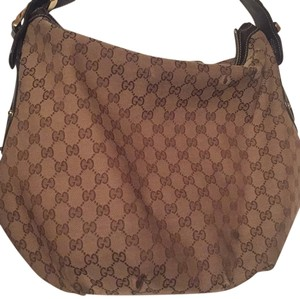 Gucci Monogram Shoulder Hobo Bag