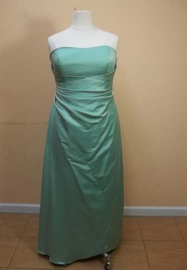 Alfred Angelo Glass Green Satin 6493 Formal Bridesmaid/Mob Dress Size 20 (Plus 1x)