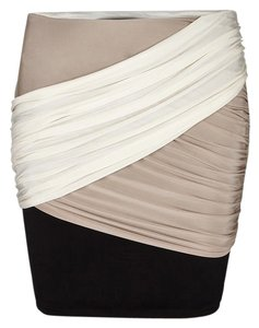 AllSaints Rianne Cupro Jersey Skirt Tri-Color