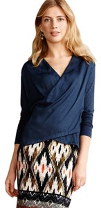 Dolan Draped Unique Hi Lo Anthropologie Top Navy