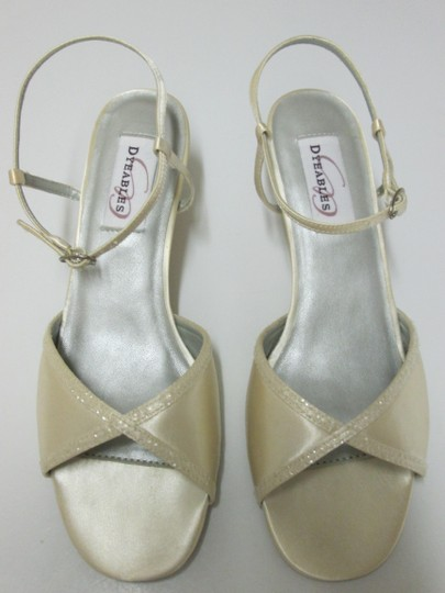 Dyeables Ivory Satin Ginger Formal Size US 8 Regular (M, B)