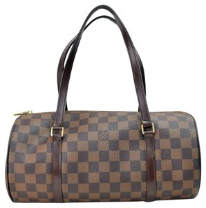 Louis Vuitton Damier Canvas Papillon 30 Satchel in brown