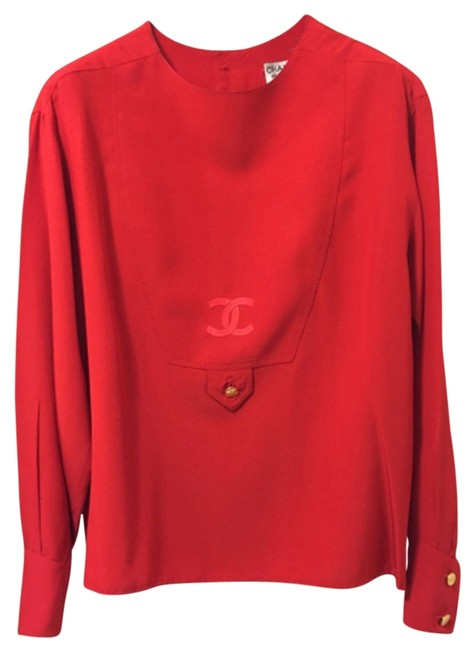 Preload https://img-static.tradesy.com/item/11024710/chanel-red-silk-with-cc-logo-blouse-size-6-s-0-1-650-650.jpg