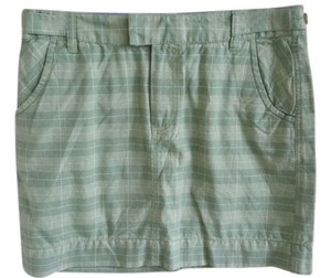 Toad&Co Mini Skirt Green plaid