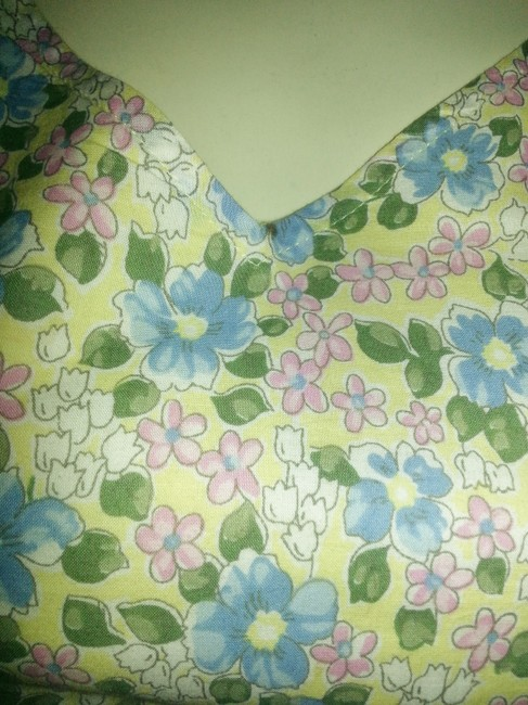 Old Navy short dress Yellow with blue, pink, white and green floral on Tradesy Image 2