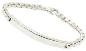 Tiffany & Co. Authentic Tiffany & Co. Sterling Silver ID Plate Box Link Bracelet