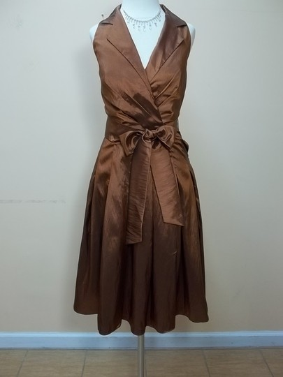 Alfred Angelo Cinnamon 6568 Formal Bridesmaid/Mob Dress Size 10 (M)