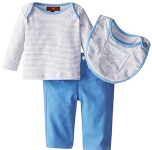7 For All Mankind 3 piece BOXED 3-6 mo JEANS 6-9 mo TSHIRT AND BIB