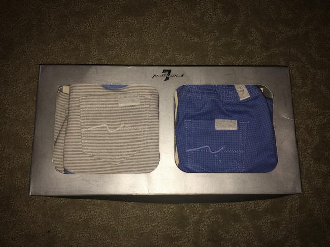 7 For All Mankind 3 piece BOXED 3-6 mo JEANS 6-9 mo TSHIRT AND BIB Image 2