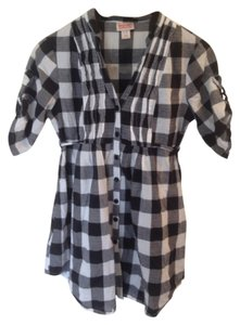Other Gingham Belt Flash Sale Top Black & White