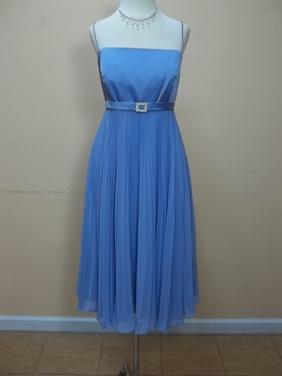 Alfred Angelo Riviera Sky Chiffon 6582 Formal Bridesmaid/Mob Dress Size 14 (L)