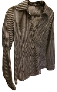 Express Button Down Shirt Charcoal