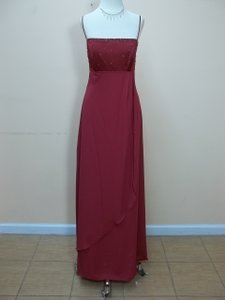 Alfred Angelo Claret Satin 6644 Formal Bridesmaid/Mob Dress Size 10 (M)