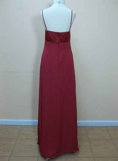 Alfred Angelo Claret Satin 6644 Formal Bridesmaid/Mob Dress Size 8 (M)