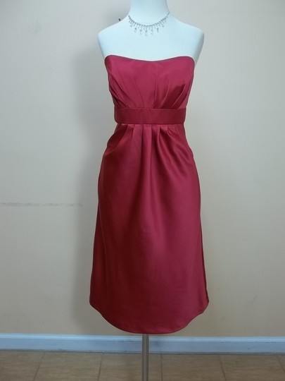 Alfred Angelo Lipstick Satin 7002 Formal Bridesmaid/Mob Dress Size 12 (L)