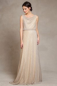 Jenny Yoo Galaxy Knit Gold Madelyn Dress