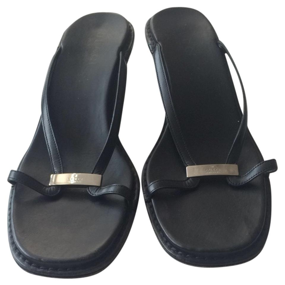 67663864856843 Gucci Black Sandals Size US 9 - Tradesy