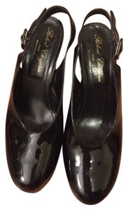 Robert Clergerie Slingback Patent Round Toe Paris Black Platforms