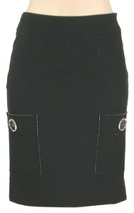 Tuleh Cotton Structured Skirt Black