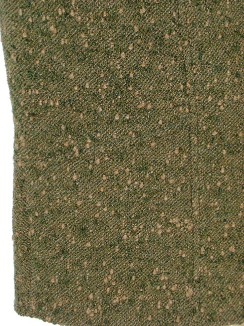 Valentino Boucle Tweed Pencil Woven Winter Skirt Green, Olive Image 1