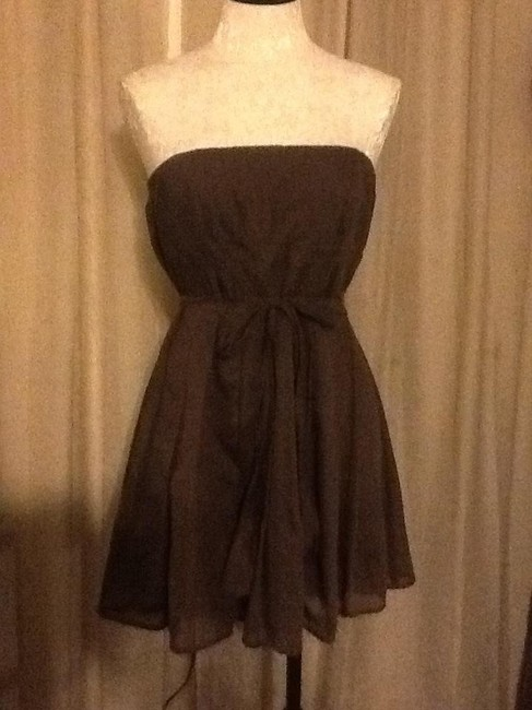 Forever 21 Mini Pleated Front 40% Silk Dress