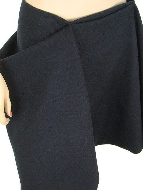 Vera Wang Fleece Wool Pleated Skirt Black