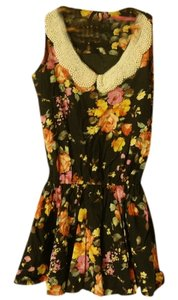 Pinkyotto short dress Black Floral Summer on Tradesy