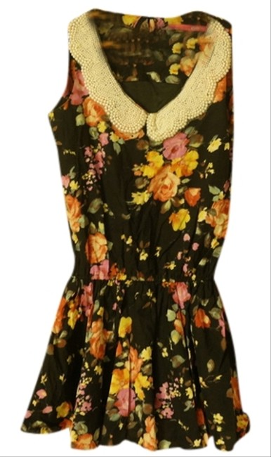 Preload https://item4.tradesy.com/images/pinkyotto-black-pearl-collar-summer-floral-small-cotton-multi-color-above-knee-short-casual-dress-si-1102903-0-0.jpg?width=400&height=650