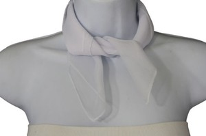 Alwaystyle4you Women Neck Scarf True White Color Soft Fabric Square Pocket Sheer