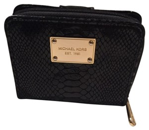 Michael Kors Python Embossed Jet Set zip around wallet Matching Purse also for sale.