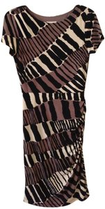 Donna Morgan short dress taupe, black and white on Tradesy