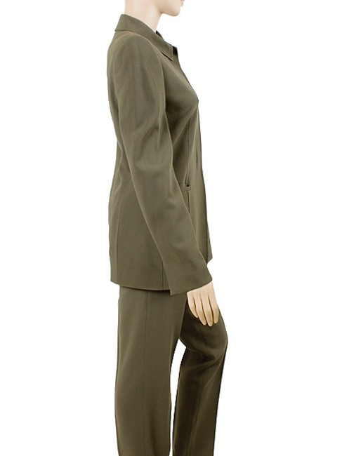Calvin Klein Calvin Klein Collection Suit - Dark Green Wool Crepe Suit Image 3