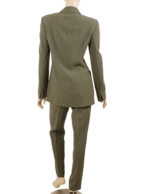 Calvin Klein Calvin Klein Collection Suit - Dark Green Wool Crepe Suit Image 4
