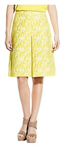 Vince Camuto Classic A-line Skirt Yellow/White