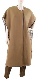 Chloe Chloe Suit - Tobacco Wool Sleeveless Blanket Coat with Trousers