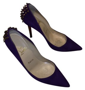 Christian Louboutin Purple and gold Pumps
