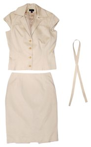 Douglas Hannant Douglas Hannant Suit - Light Sand Silk Cotton Skirt Suit