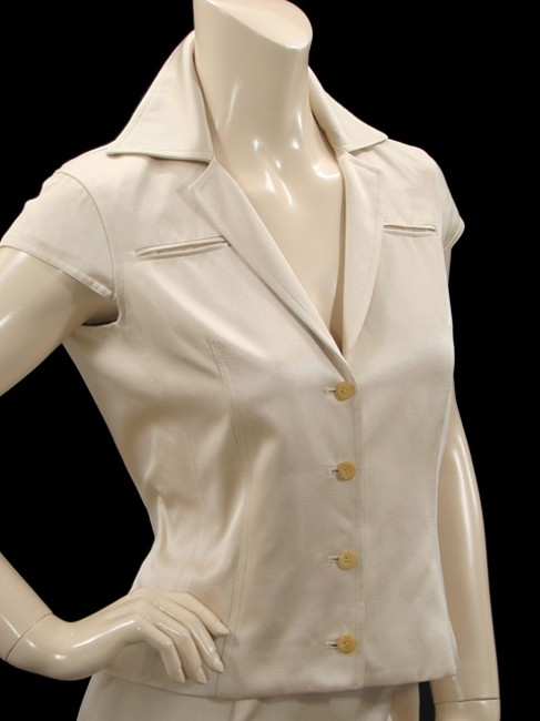Douglas Hannant Douglas Hannant Suit - Light Sand Silk Cotton Skirt Suit Image 2