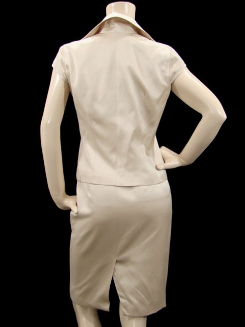 Douglas Hannant Douglas Hannant Suit - Light Sand Silk Cotton Skirt Suit Image 4