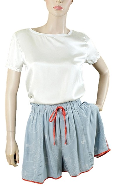 Item - Blue Red White - Print with T-shirt Set Shorts Suit Size 4 (S)