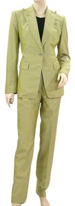 Richard Tyler Richard Tyler Couture Suit - Iridescent Green Silk Suit