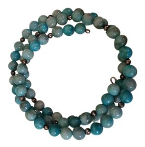 Blue Beaded Bracelet Chain