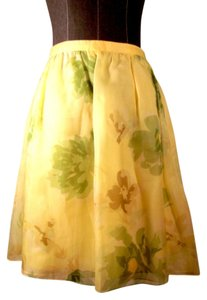Escada Skirt yellow, green