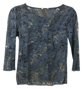 Urban Outfitters Lace Sheer Sexy Lace Lace Jewel Tone Top Teal